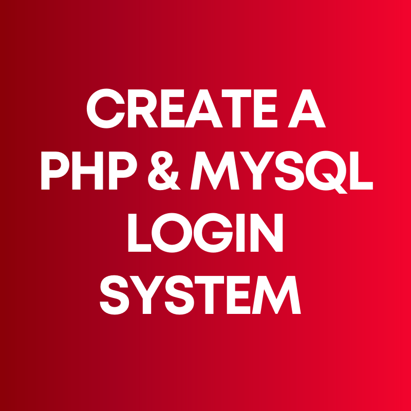 php mysql login system tutorial